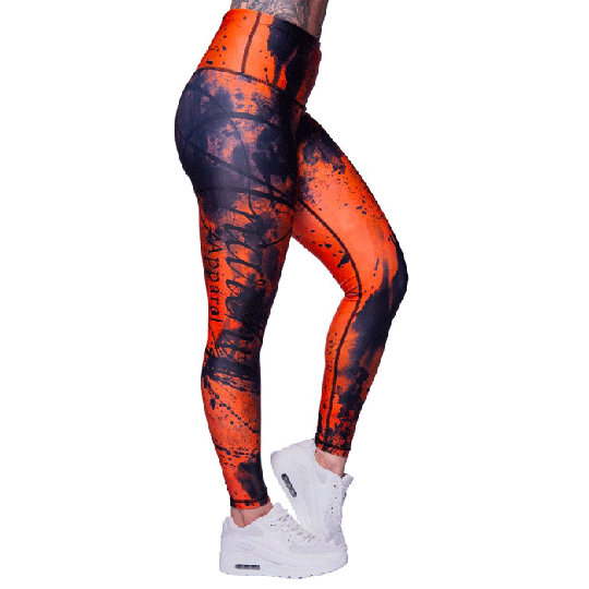 Apricot Ash Leggings, Orange/Black