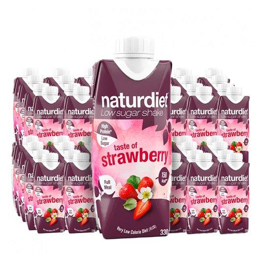 Måltidsersättning Shake Strawberry 48-pack - 28% rabatt