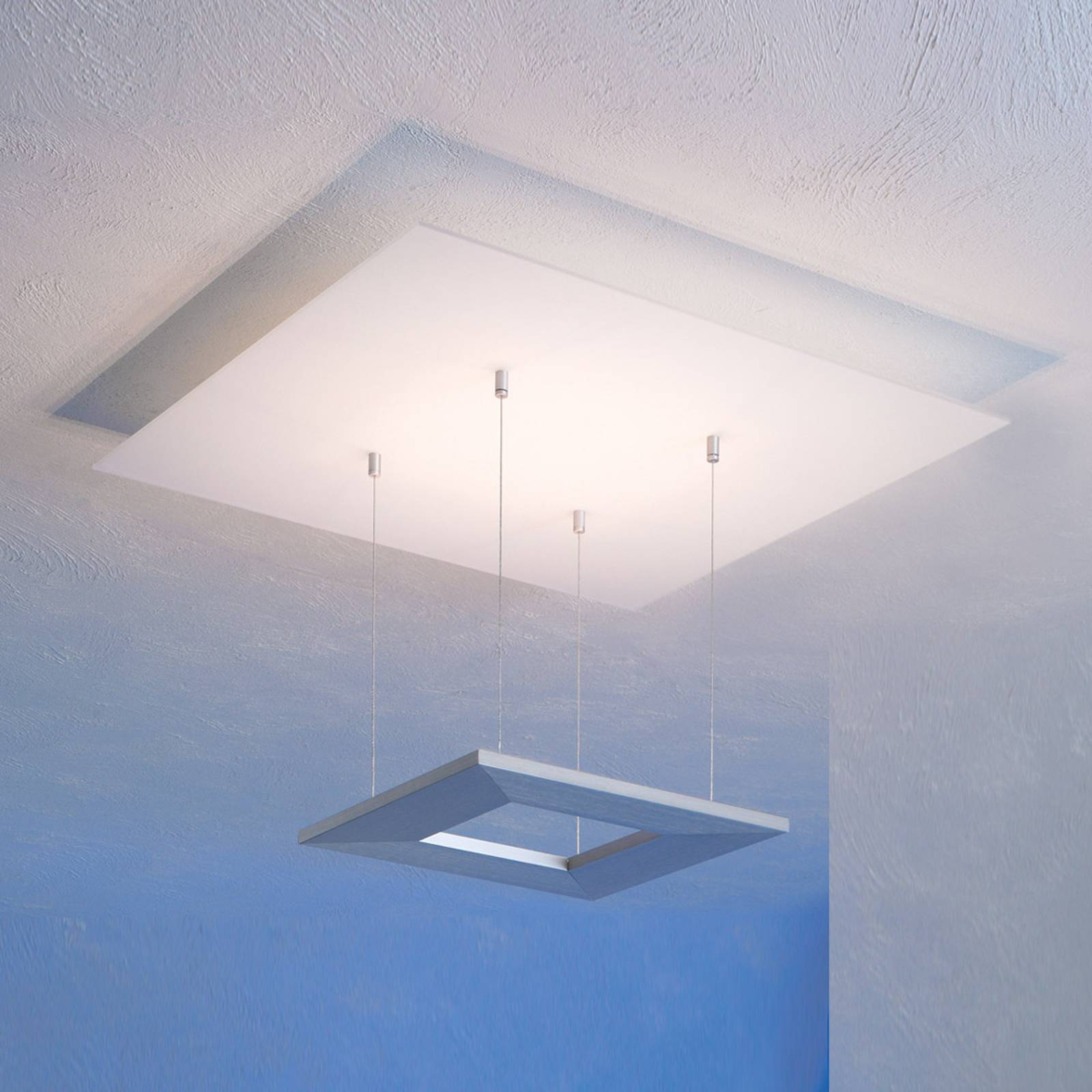 Escale Zen -LED-kattovalaisin, 60 cm, alumiini