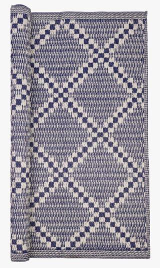 Rute matto moniväri/sininen