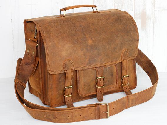 Medium Overlander Leather Satchel 16 Inch Brown 16 Inch