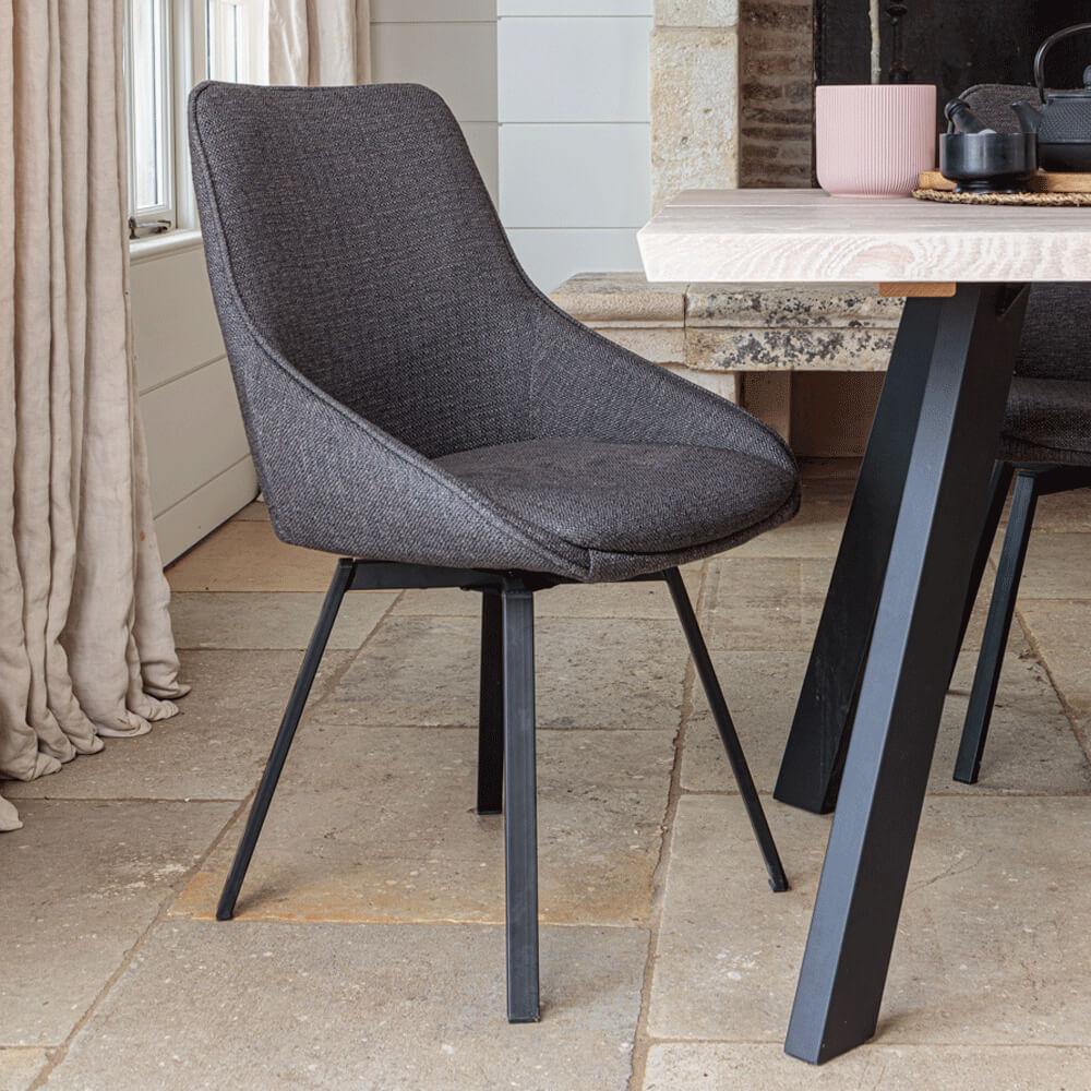 Gaudi Dining Chair – Dark Grey (2 pk)