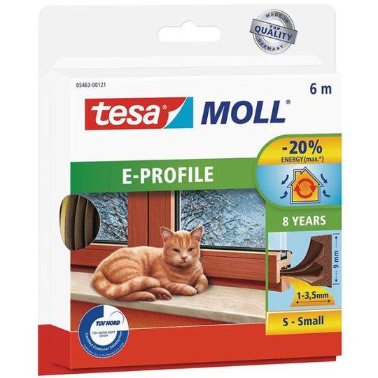 Tesa E-list 05463-00121-00 Kuminen tiivistenauha EPDM, 6 m, 9 mm x 4 mm