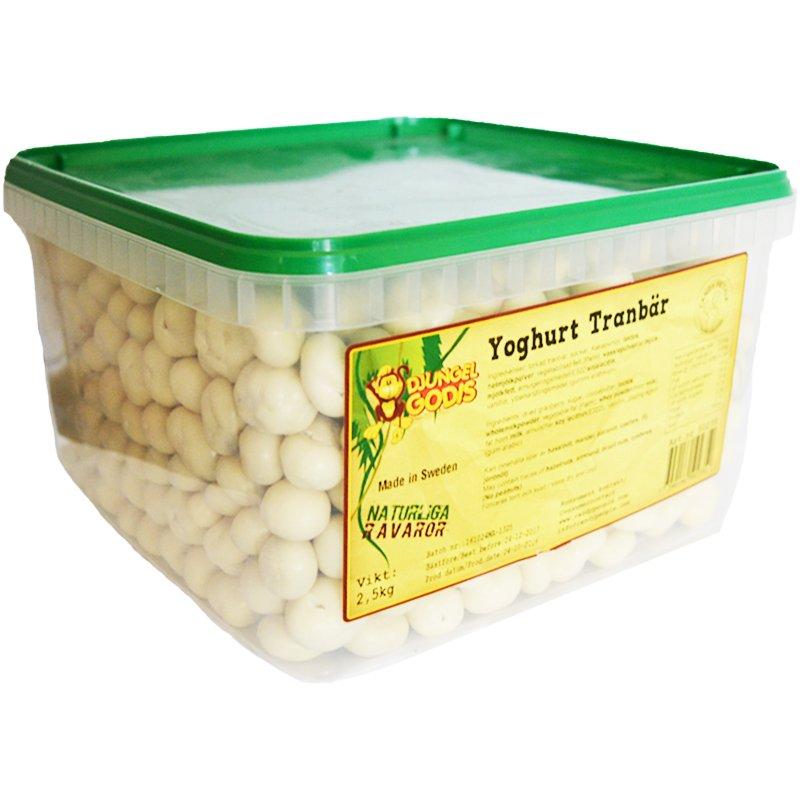 Hel Låda Godis Yoghurt Tranbär 2,5kg - 50% rabatt