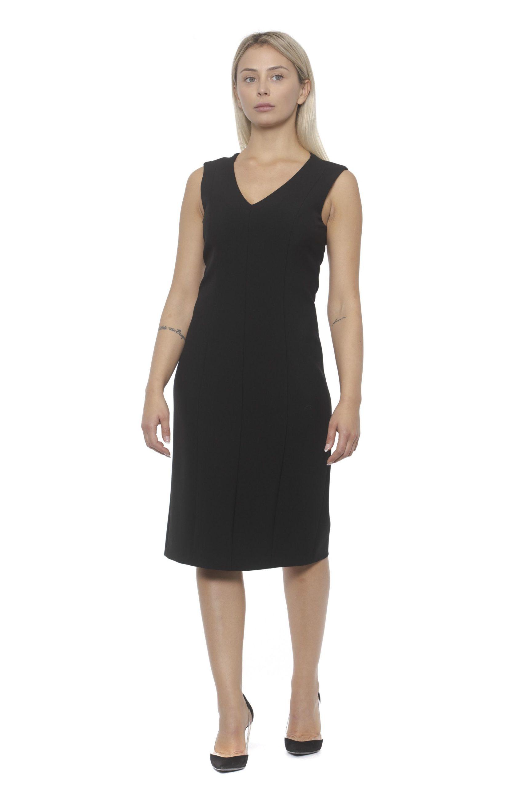 Peserico Women's Nero Dress Black PE1383164 - IT42 | S