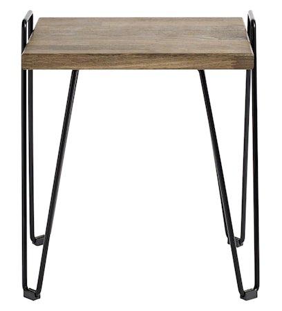 Move Sidebord Svart/Mørkt jern/Eik 32x50,5x45 cm