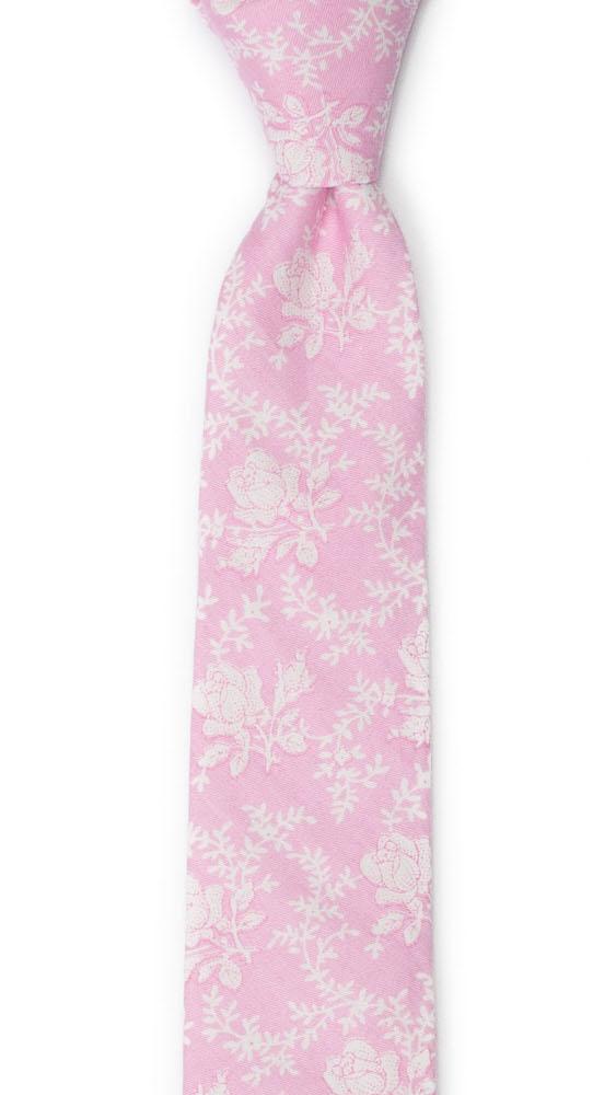 Bomull Smale Slips, Lys rosa med hvite roser & vinranker, Rosa, Blomster