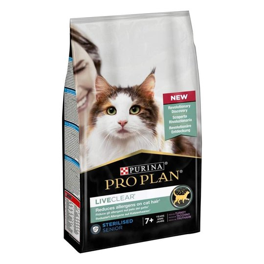 Purina Pro Plan Cat LiveClear Senior 7+ Sterilised Turkey 1,4 kg
