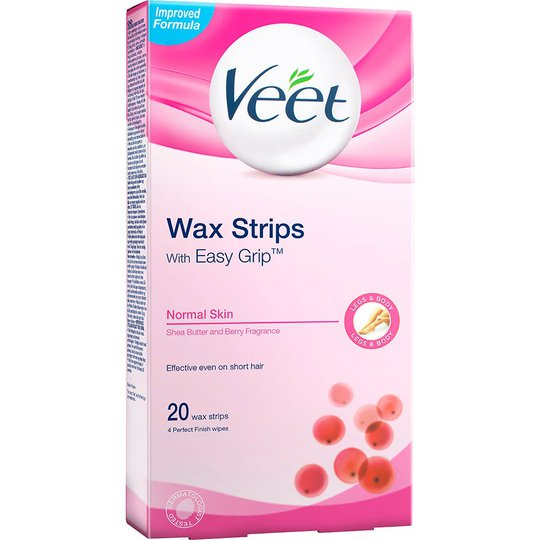 Veet EasyGrip Ready-to-Use Wax Strips, Veet Vaha