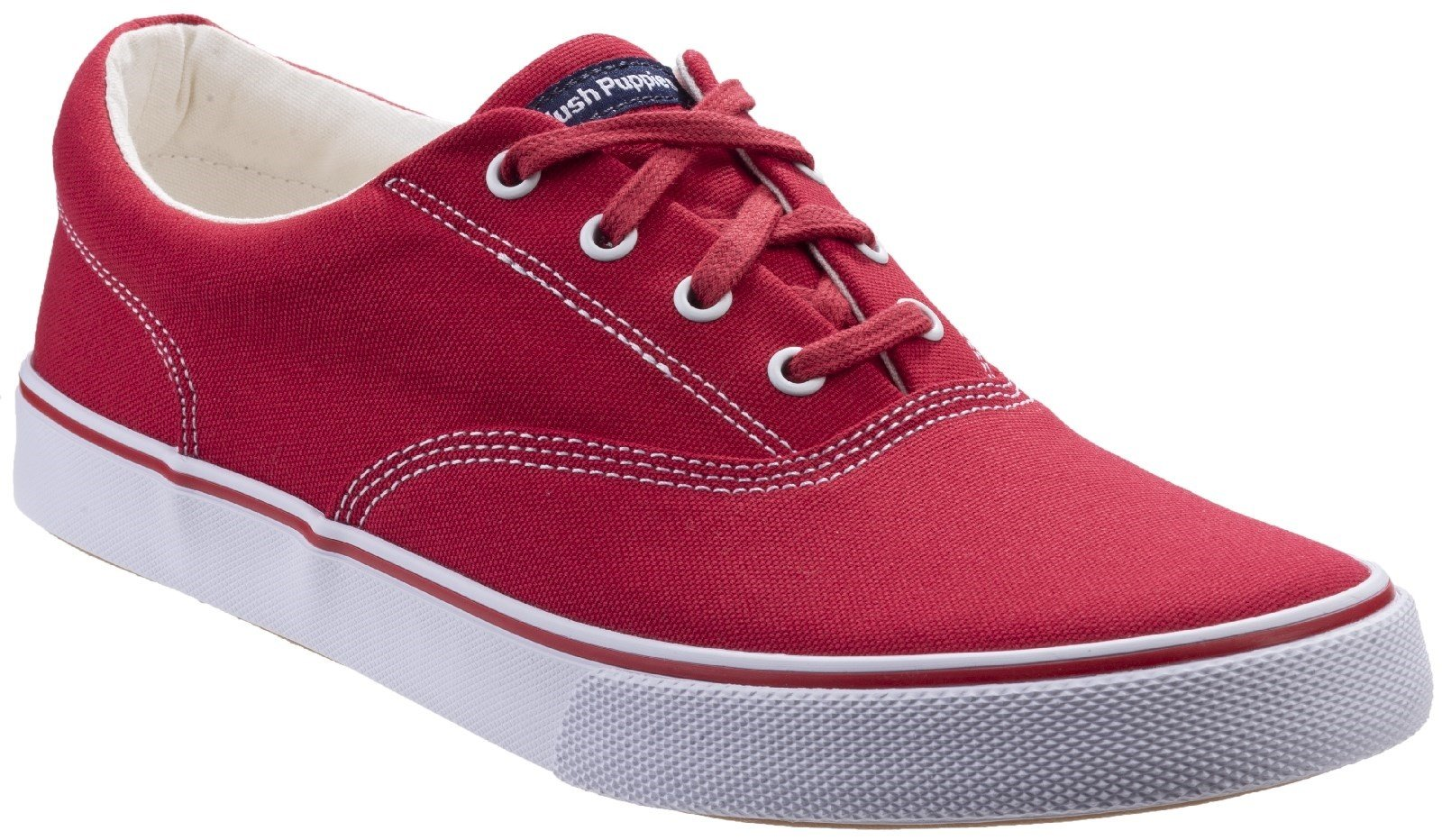 Hush Puppies Women's Byanca Lace Up Trainer Red 297171 - Red 3