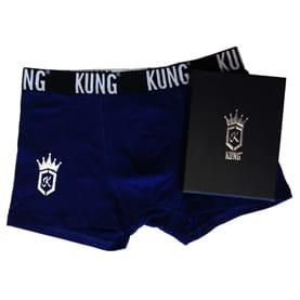 KUNG-kalsong i presentbox, blå, XL