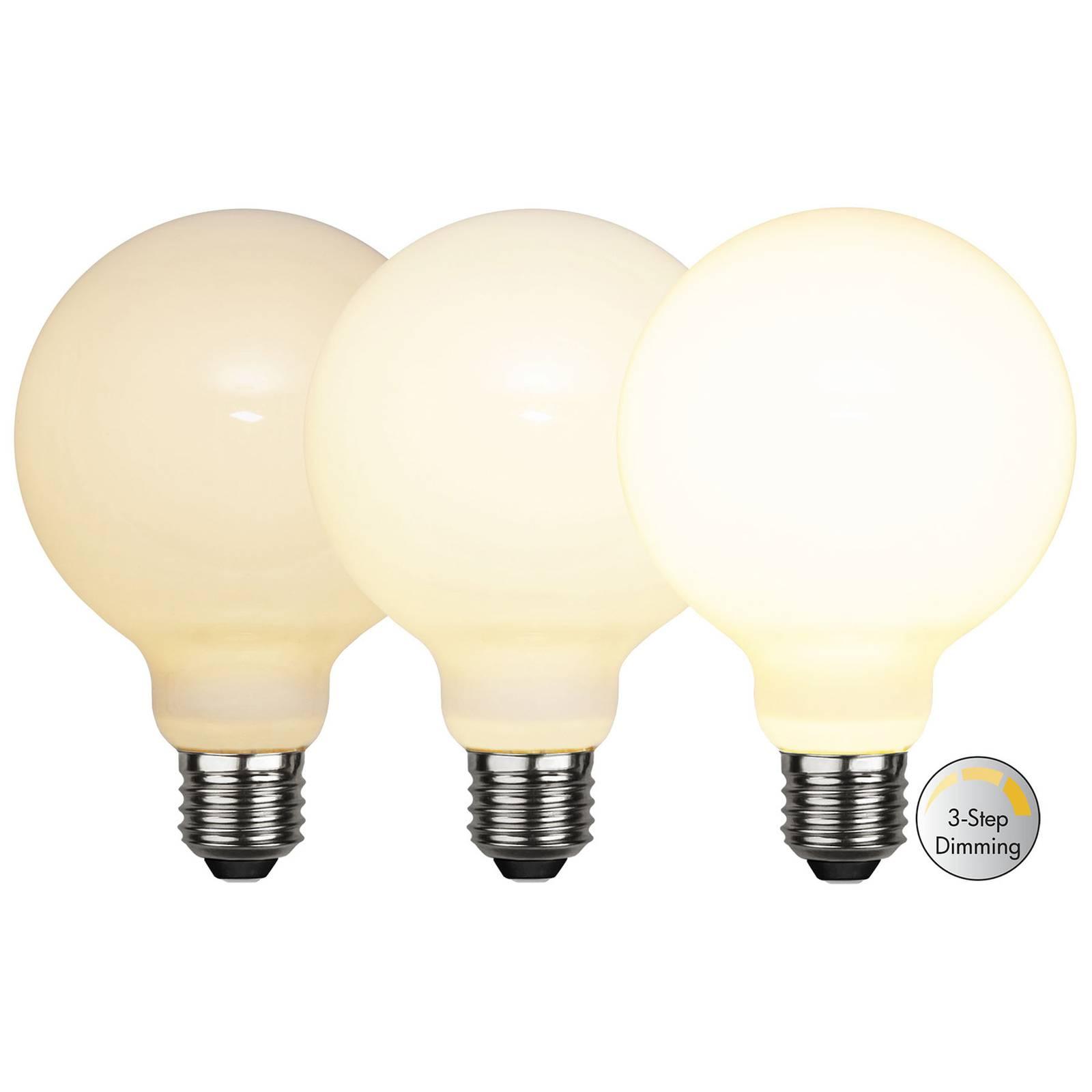 LED-globe-lamppu E27 G95 7,5W 3-step-dim, opal