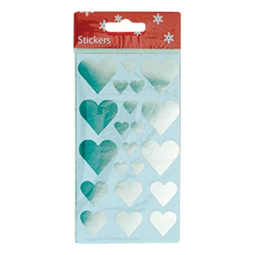 Stickershjärtan Silver