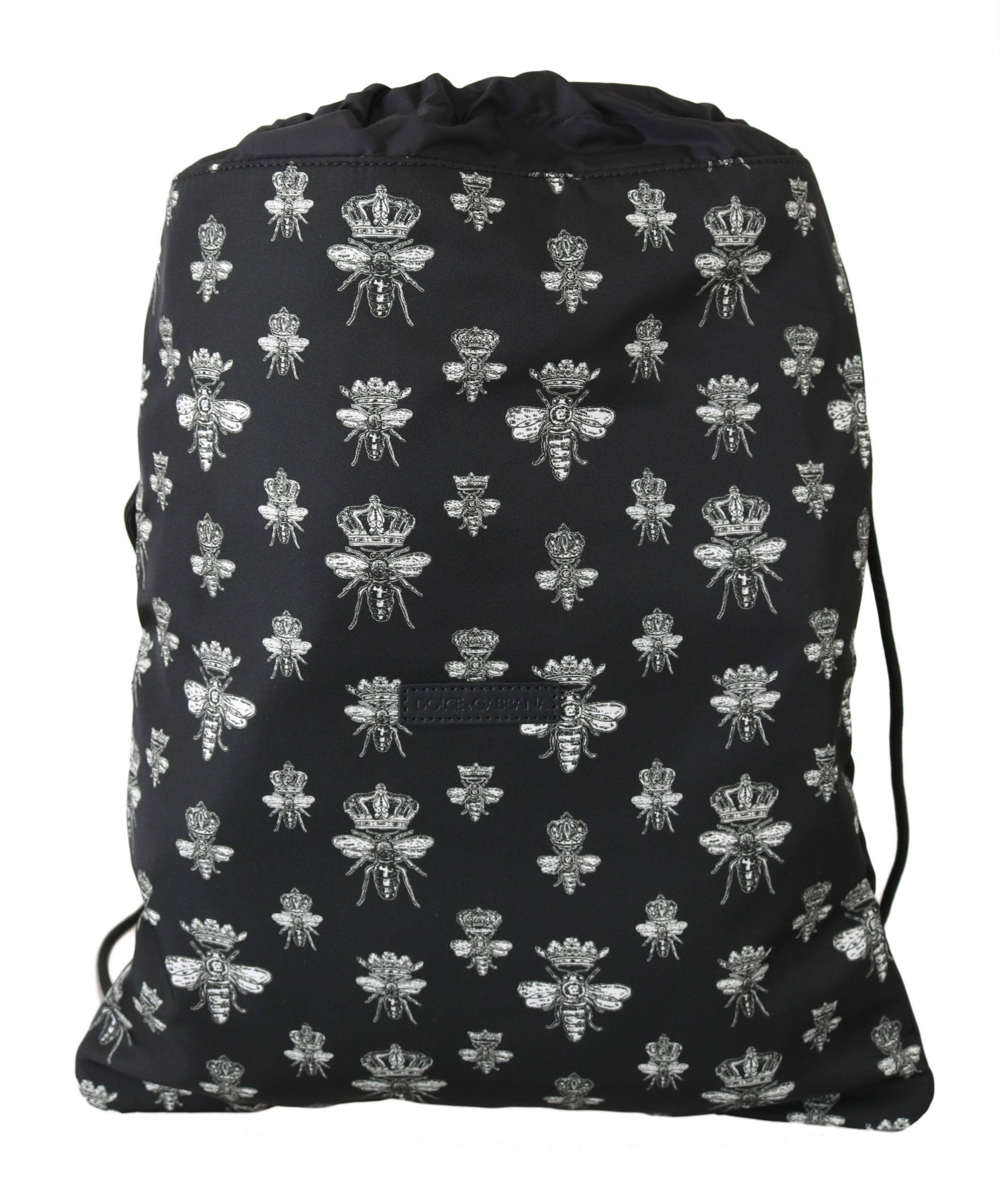 Dolce & Gabbana Women's Bee Crown Nap Sack Backpack Black VA8643