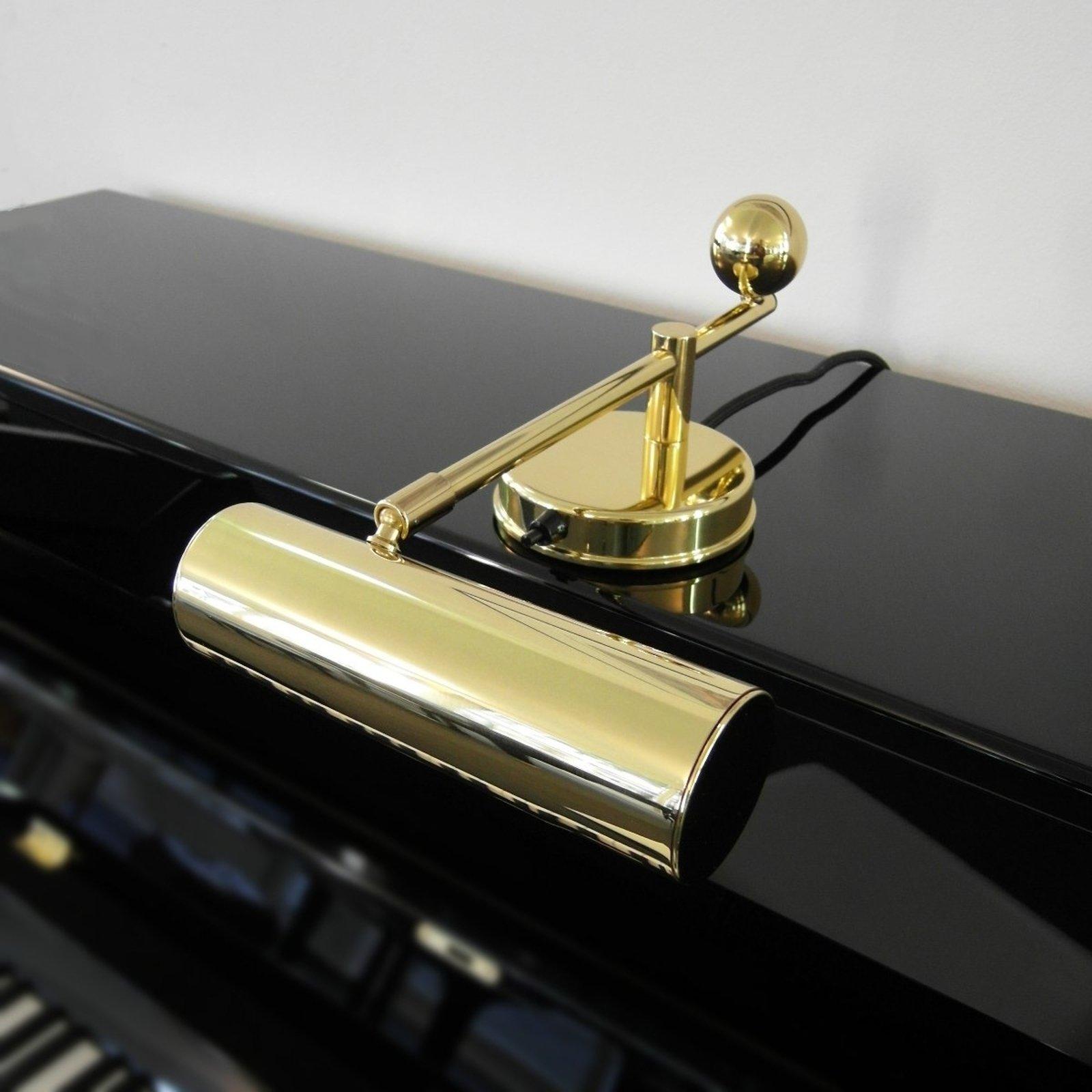 Messing-klaverlampe i De Stijl