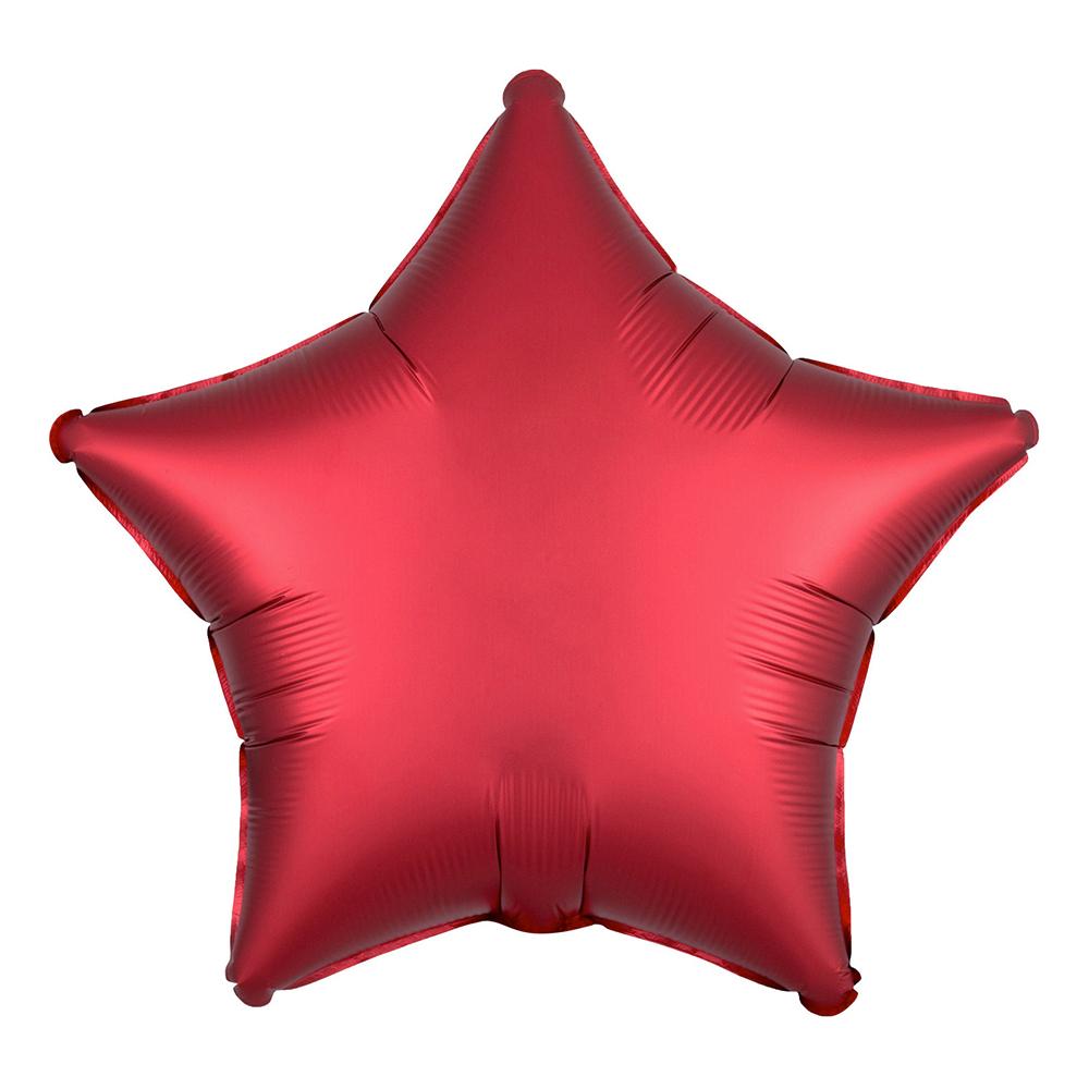 Folieballong Stjärna Satin Sangriaröd