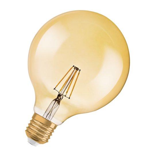 OSRAM-LEDlamppu E27 Vintage 1906 7W Globe gold dim