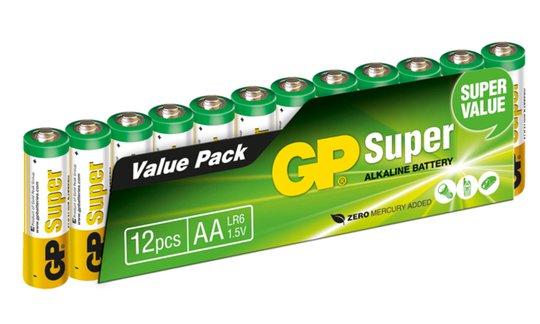 GP Batterier AA LR6 Super 12-pack