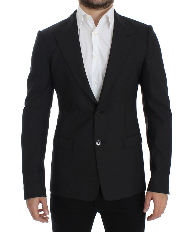 Dolce & Gabbana Men's Wool slim fit Blazer Gray SIG12300 - IT48 | M