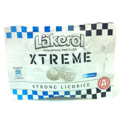 Läkerol Xtreme Strong Licorice - 86% rabatt