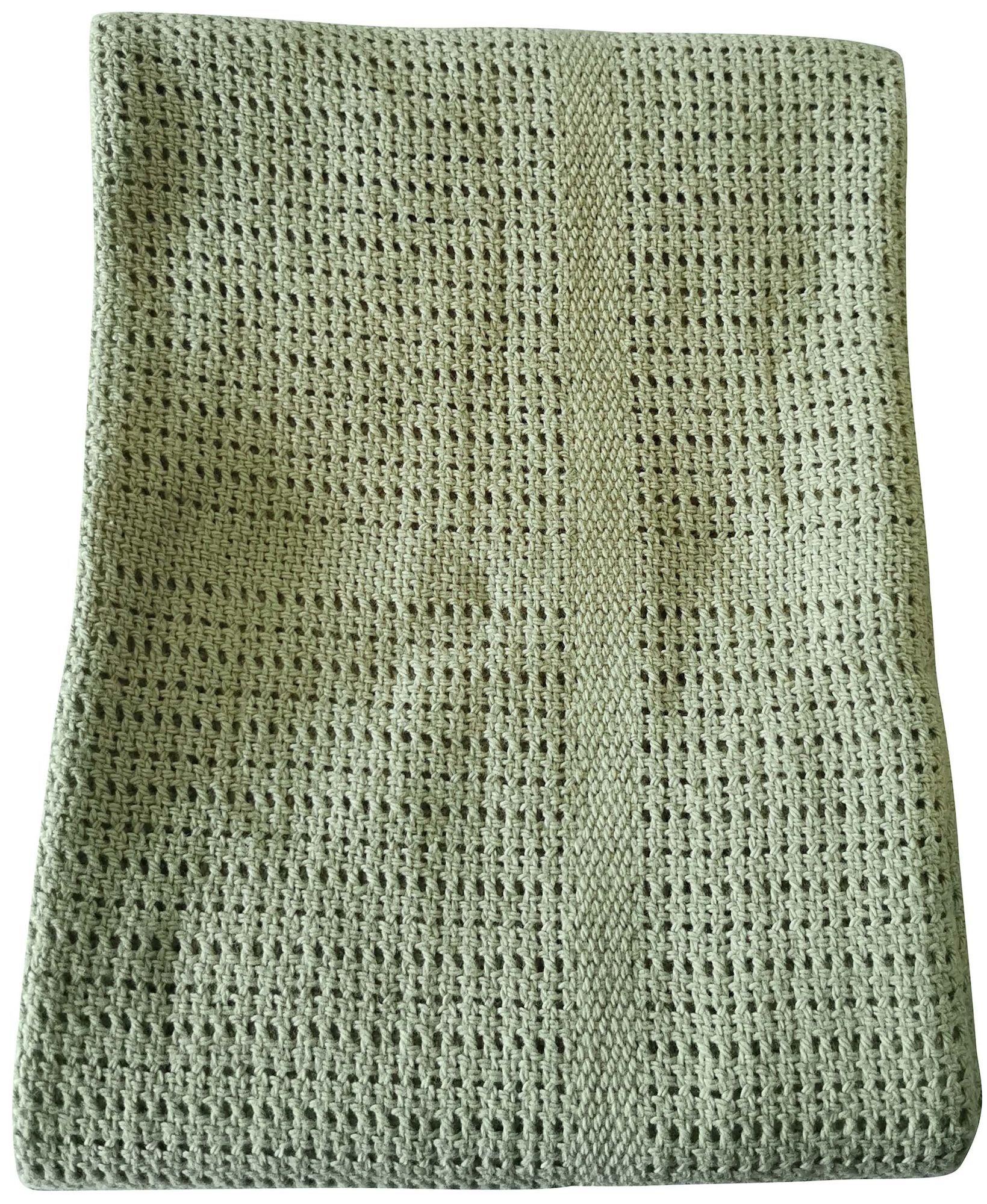 BabyDan Cotton Blanket Viltti, Dusty Green