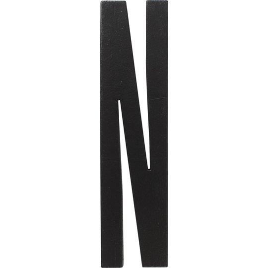 Design Letters Svart Bokstav i Trä, N