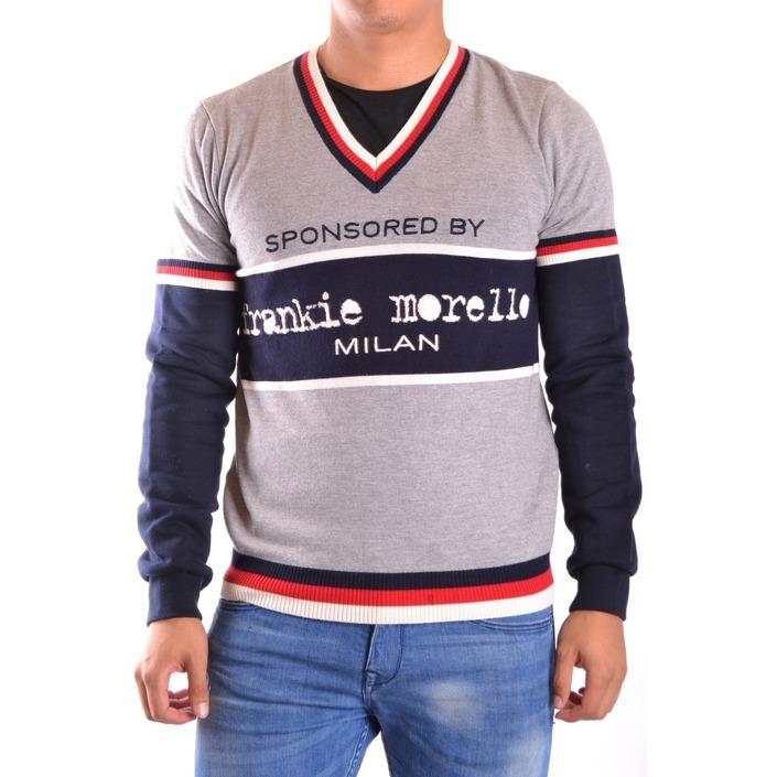 Frankie Morello Men's Sweater Grey 163040 - grey XS