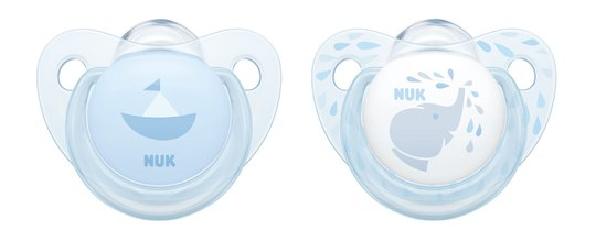 NUK Baby Blue 6-18 Måneder Smokk 2-pack, Silikon