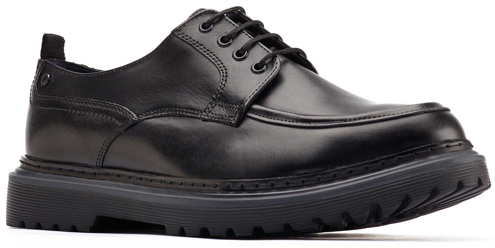 Base London Men's Rene Apron Toe Derby Shoe Various Colours 31236 - Black 6