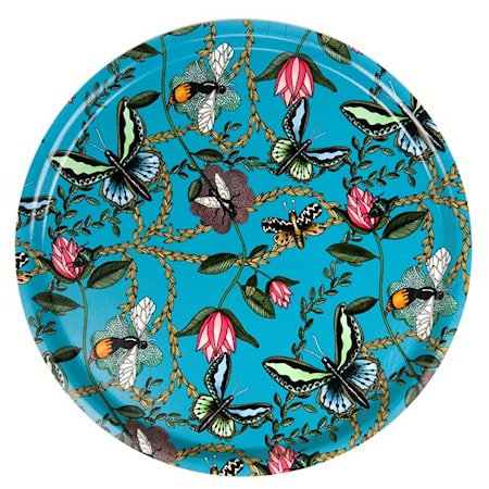 Nadja Wedin Design Brett 46 cm Bugs & Butterflies Turkis