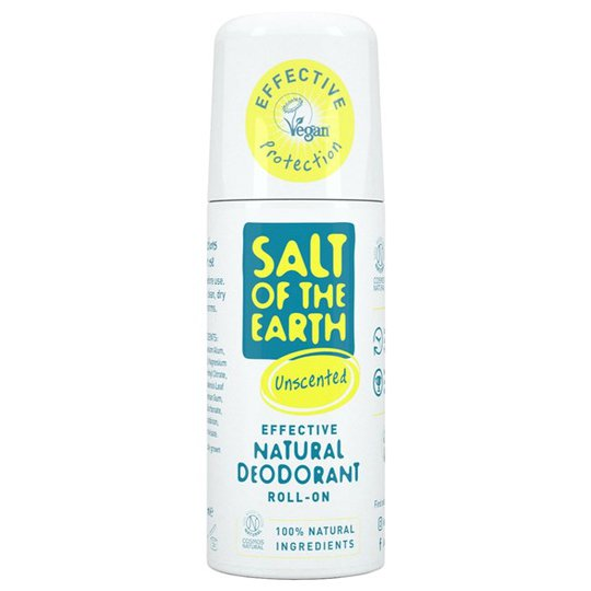 Salt of the Earth Natural Roll-On Deodorant Unscented, 75 ml