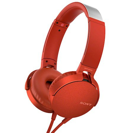 Headset MDR-XB550AP Rød