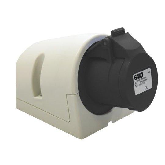 Garo UI 416-5 Q + RU Seinäpistorasia IP44, 5-napainen, 16A, Quick Musta, 5 h