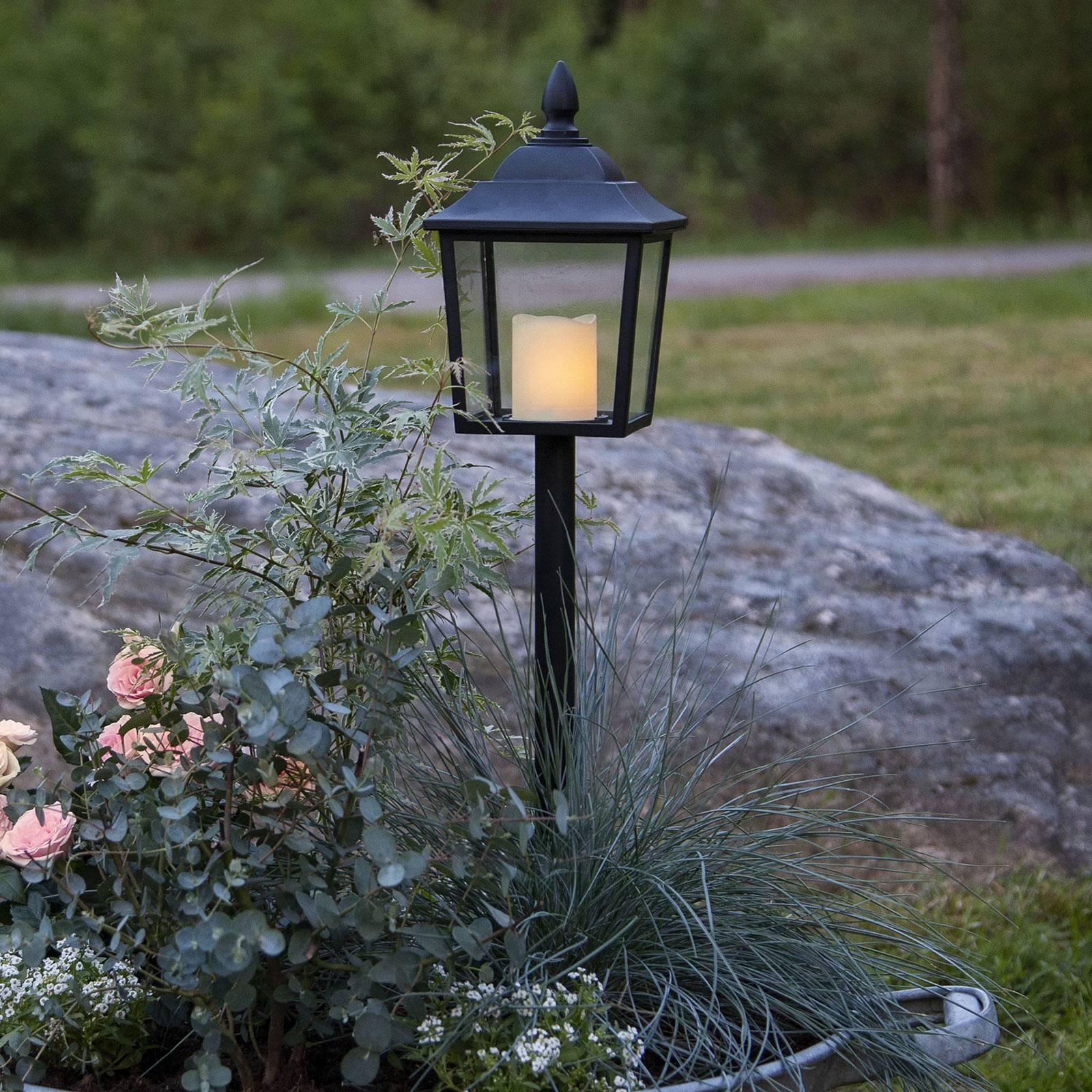 Flame Lantern -LED-hautalyhty, korkeus 52 cm