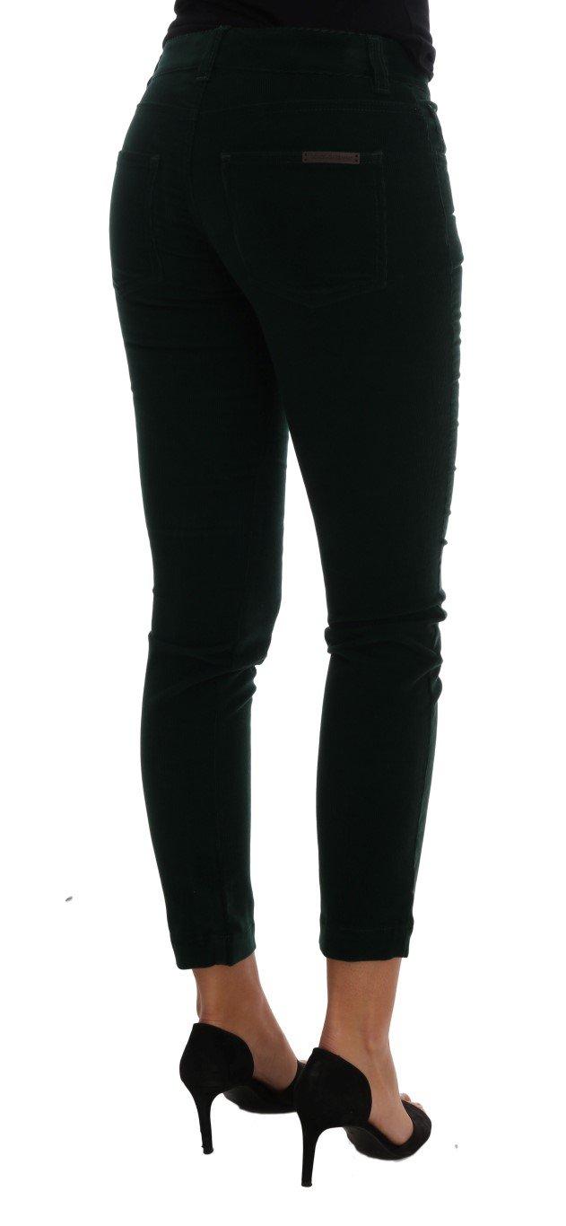Dolce & Gabbana Women's Corduroy Cotton Stretch Jeans Green BYX1107 - IT36|XXS