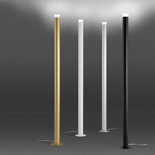 Gulvlampe LED Pole, teksturert hvit