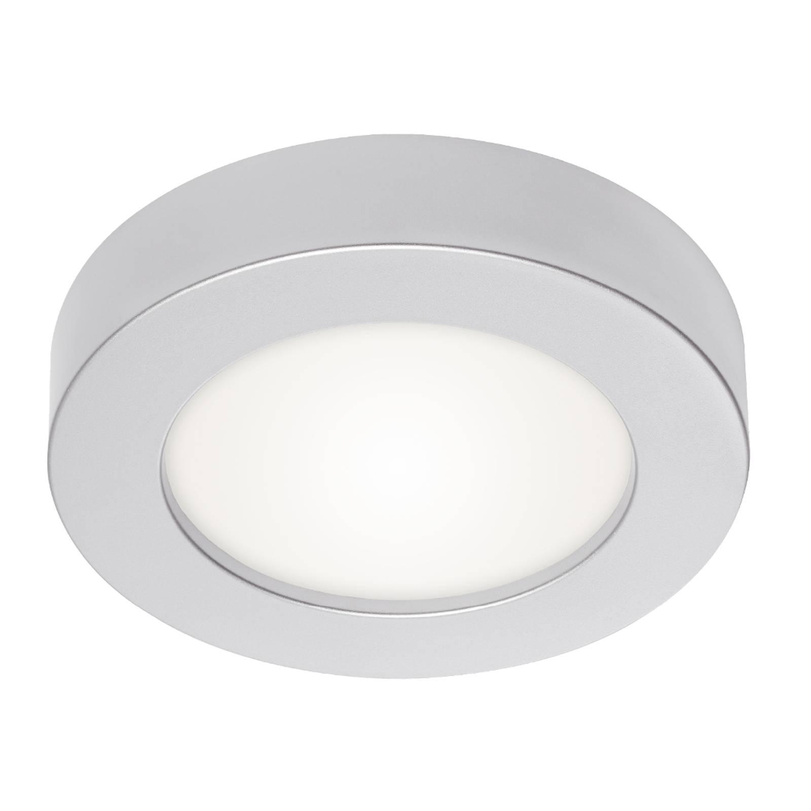 Prios Edwina -LED-kattovalaisin, hopea, 12,2 cm