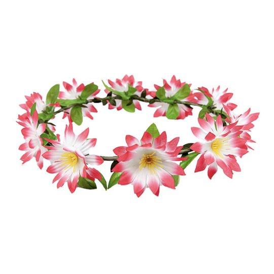 Hårband med Blommor Rosa - One size