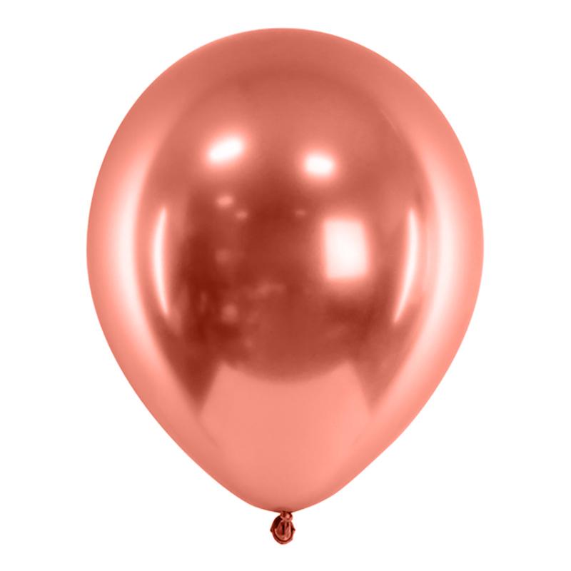 Ballonger Krom Roséguld - 10-pack