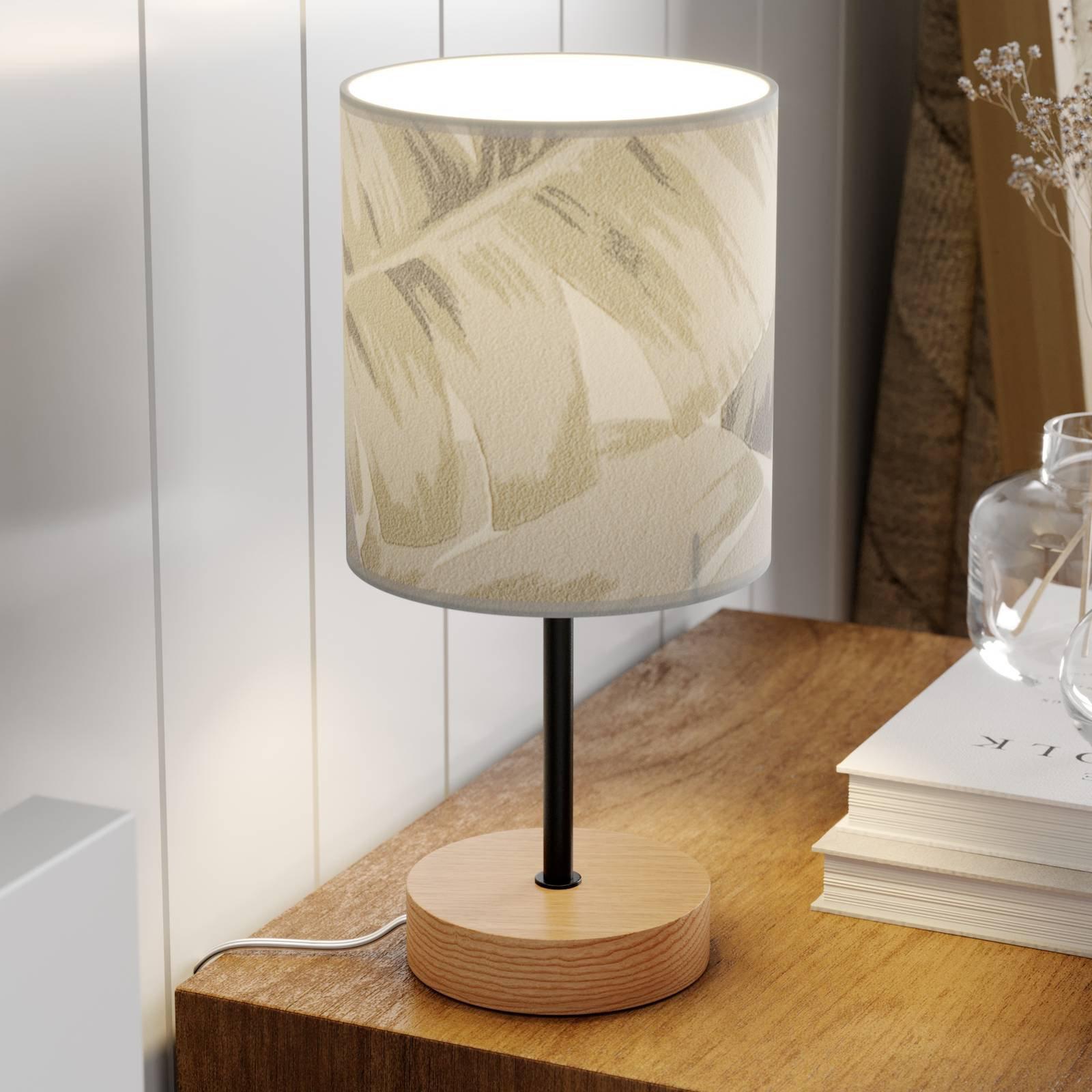 Bordlampe Lobos med trykket papirskjerm