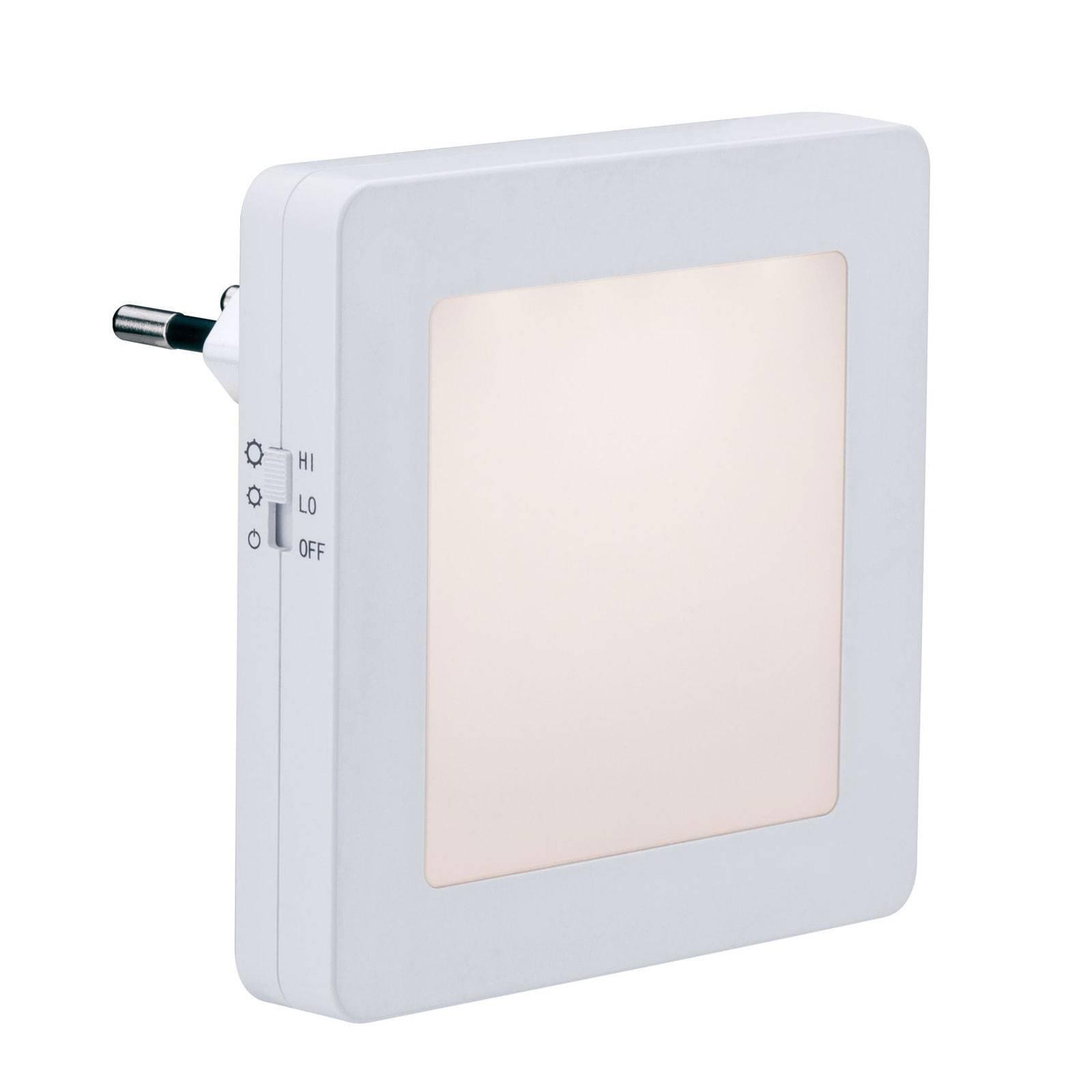 Paulmann Esby LED-nattlys, stikkontakt, kantet
