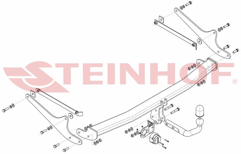 Vetokoukku STEINHOF STR-121 Renault Talisman Grandtour 16'-