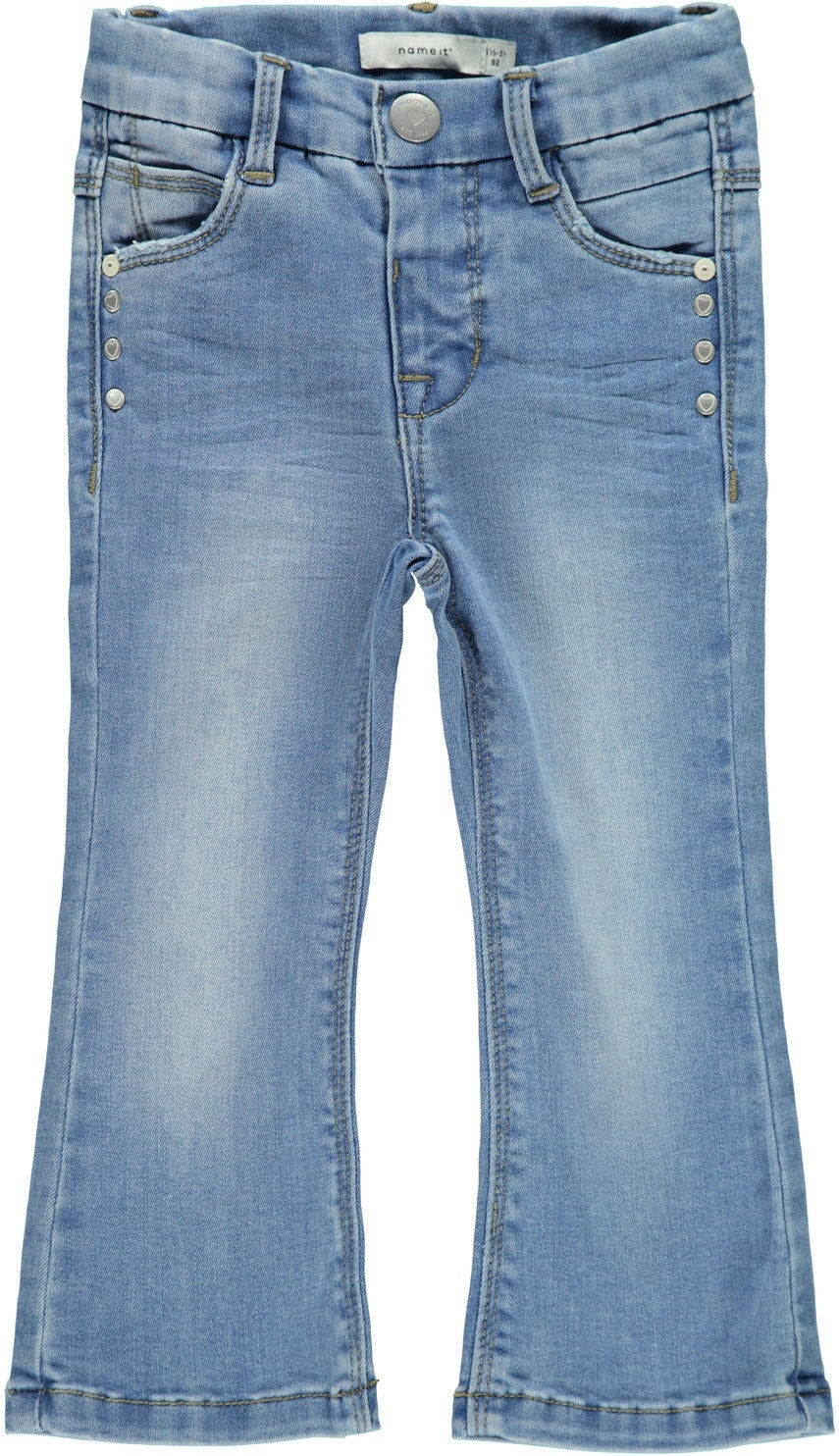 Name it Polly Bootcut Jeans, Light Blue Denim, 86