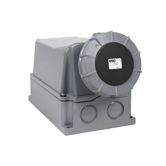 Garo UIV 3125-7 S + RU Seinäpistorasia IP67, 4-napainen, 125A Musta, 7 h