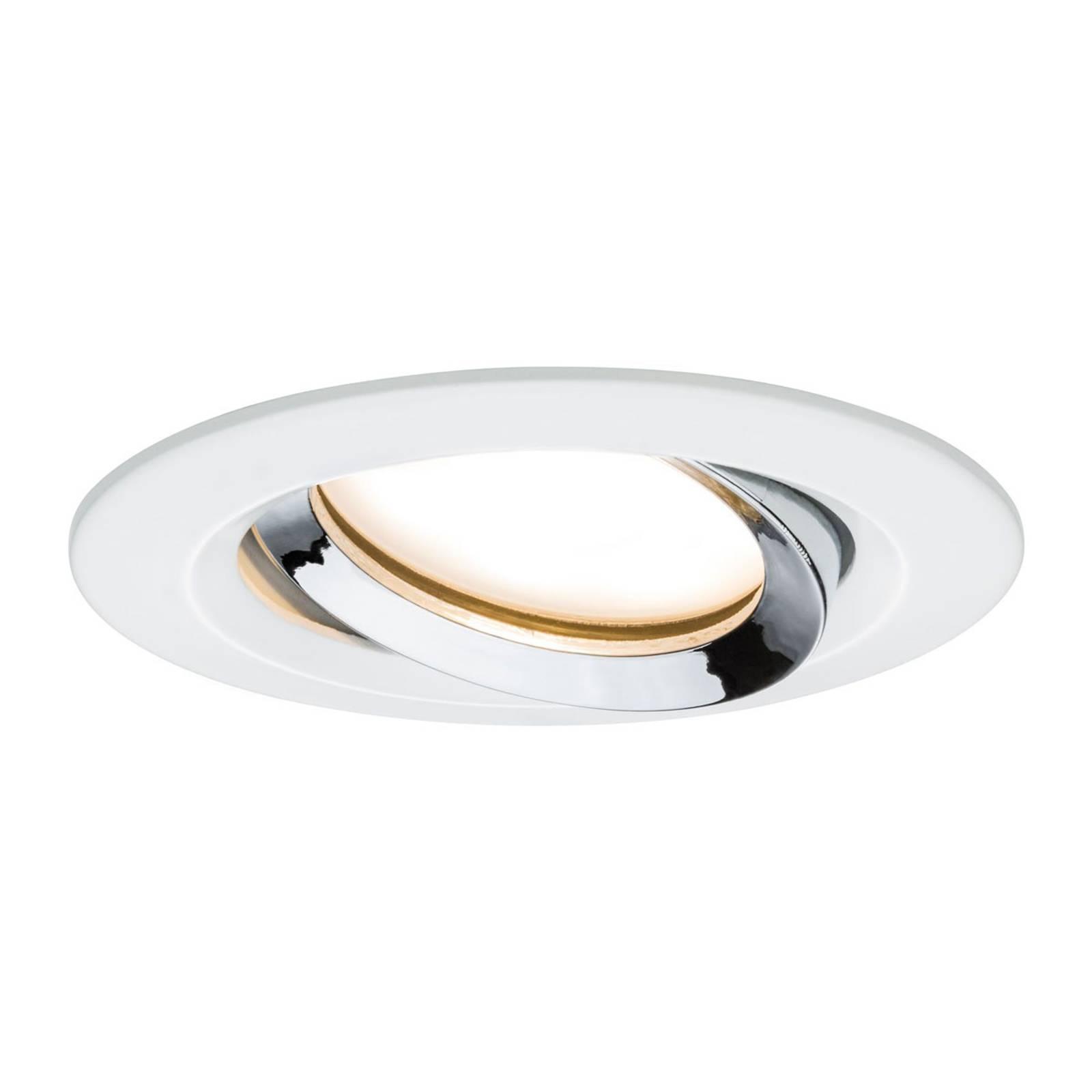 Paulmann Nova Plus -LED-spotti, valkoinen-kromi
