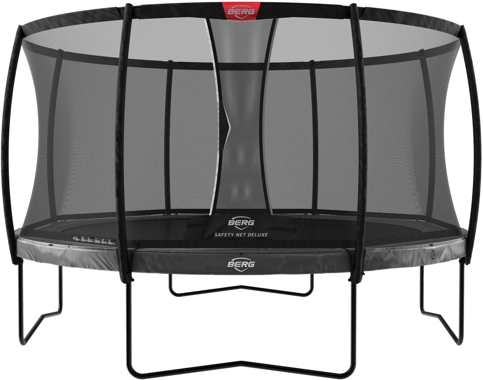BERG Elite Regular Studsmatta 380 inkl Deluxe Säkerhetsnät, Grå