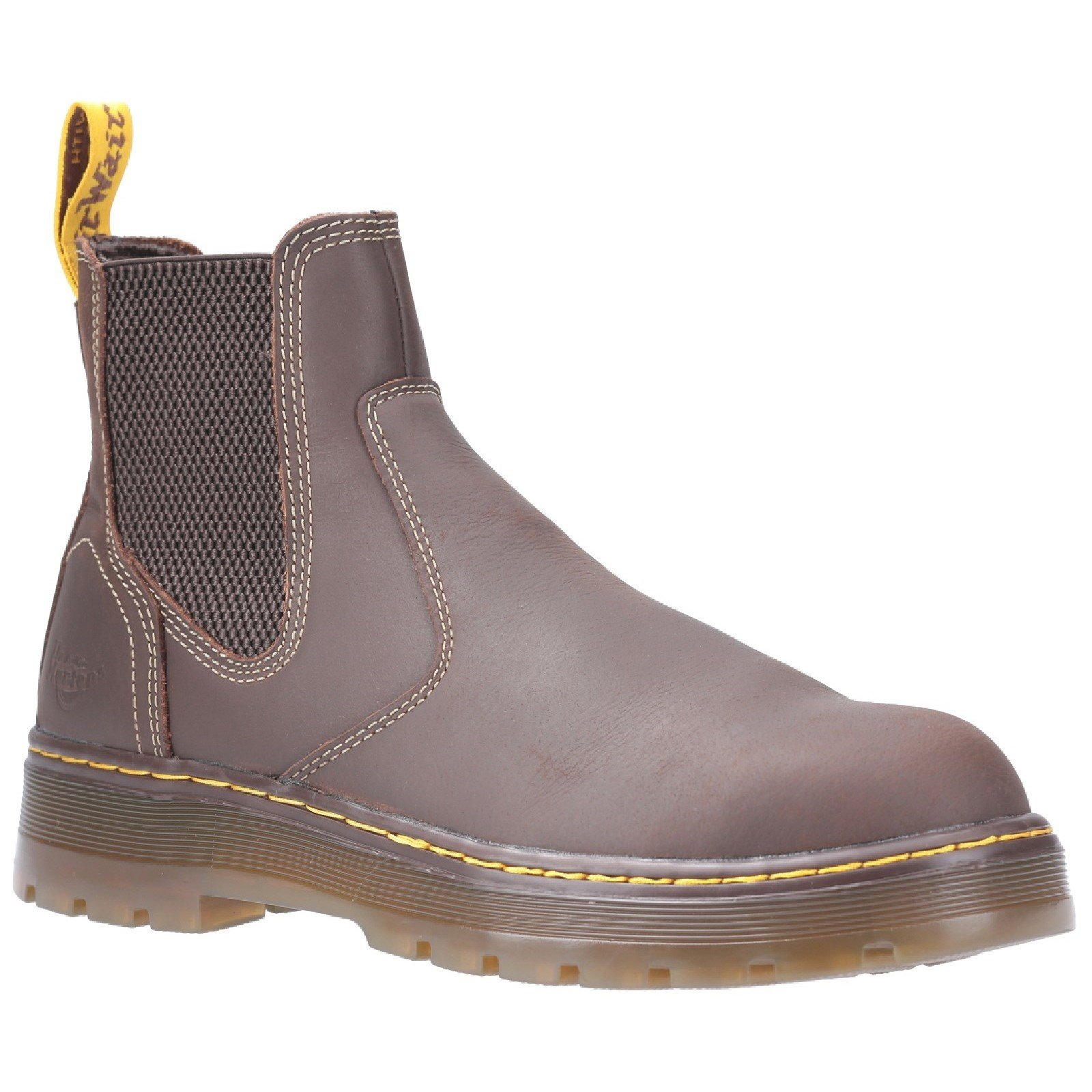 Dr Martens Unisex Eaves SB Elasticated Safety Boot Brown 29519 - Brown 10