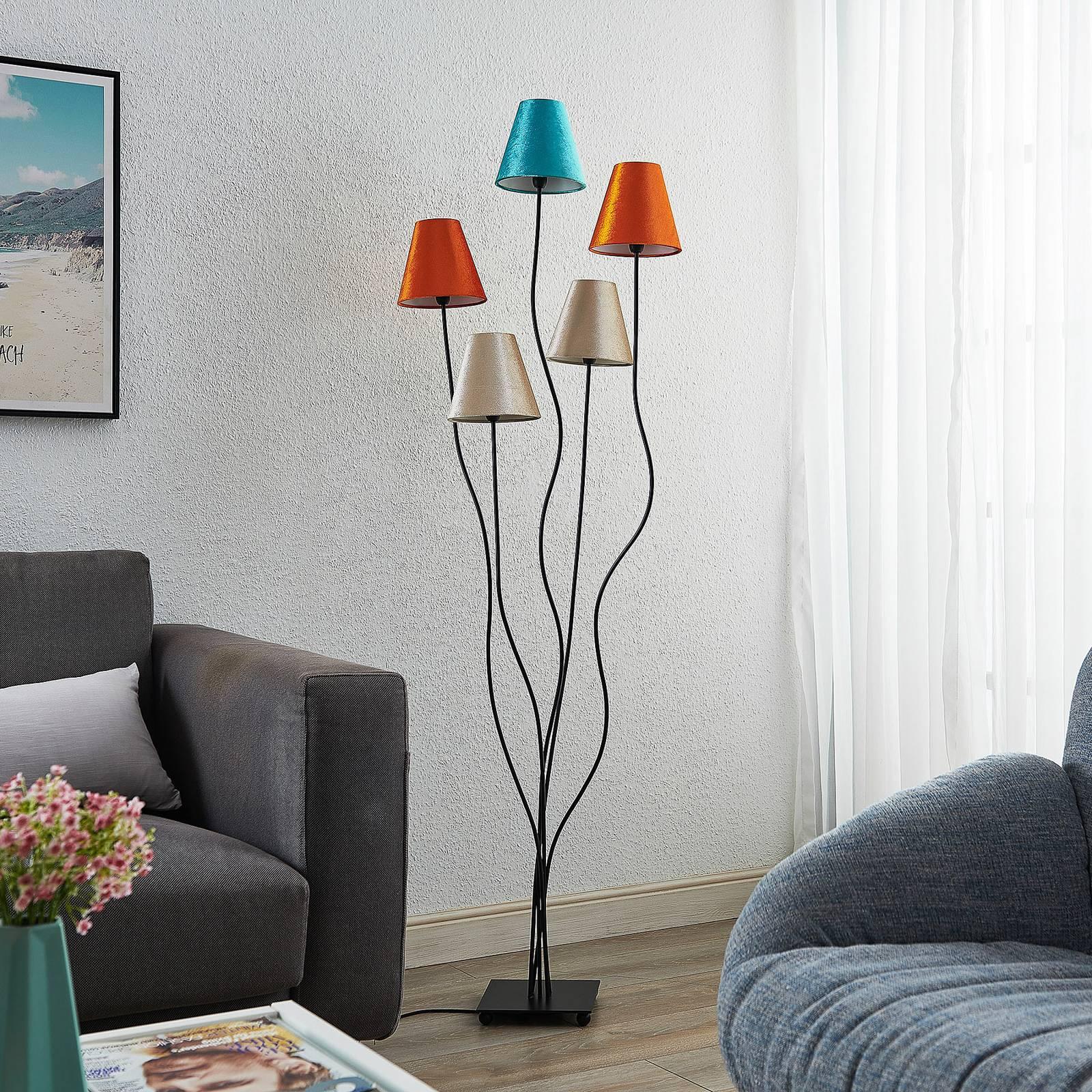 Lindby Komalie -lattiavalo, 5-lamppuinen