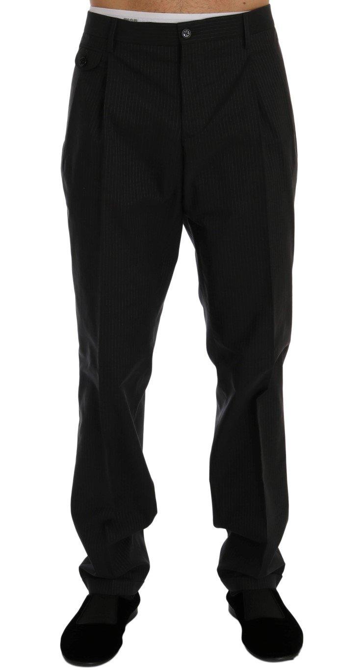 Dolce & Gabbana Men's Striped Cotton Dress Formal Trouser Blue PAN60357 - IT52 | XL