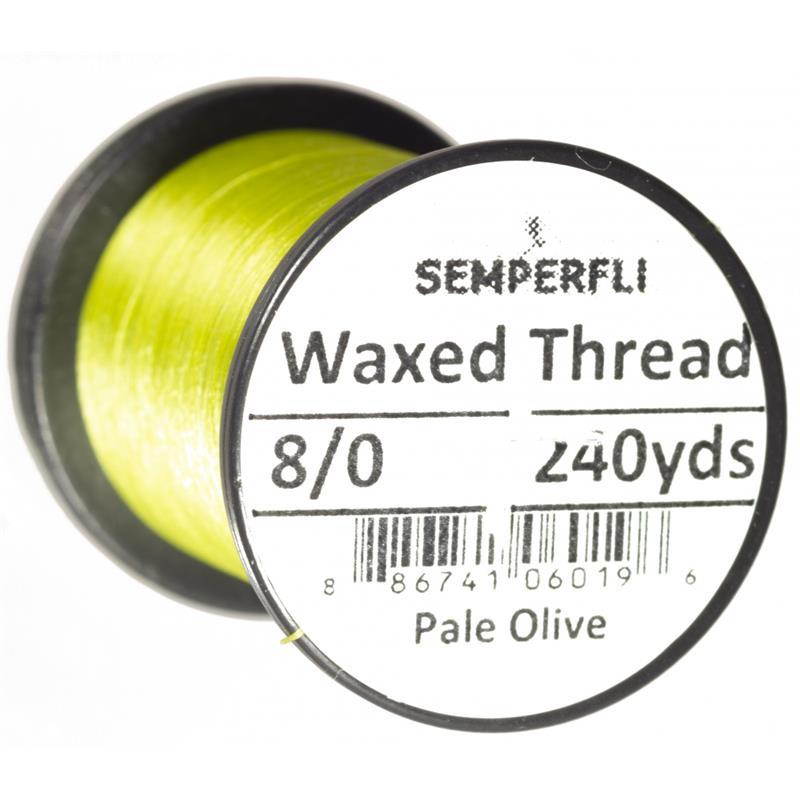 Semperfli Classic Waxed Thread Pale Olive 8/0